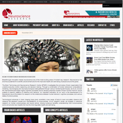 web-design-neuroscience-research-centre