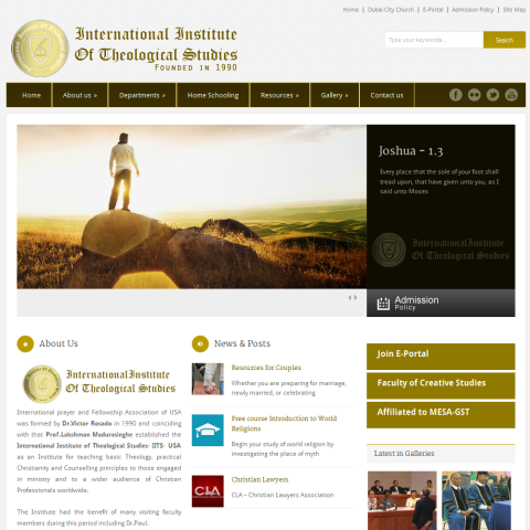 International Institute of Theological Studies developed by pawara concepts web development
