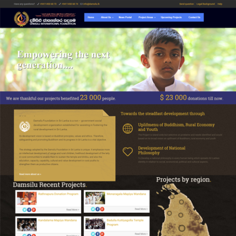 pawara-event-web-design-development-ngo-website-damsilu