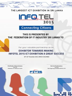 Appreciation Certificate – INFOTEL 2015