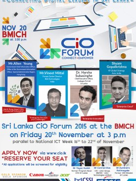 INFOTEL CIO Forum 2015 Flyer Design