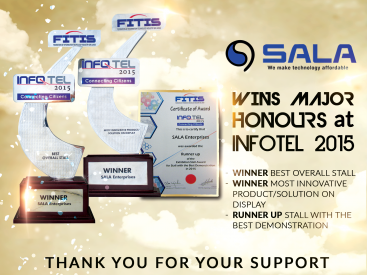 Congratulation Flyer of SALA Enterprises