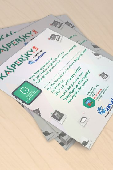 Invitation Design for Kaspersky