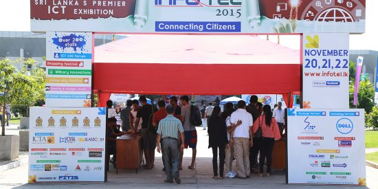 Entrance Hoardings for INFOTEL 2015