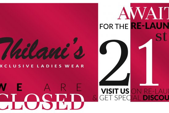 Banner Design for Thilani's Ladies Wear